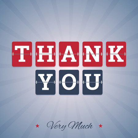 thank you very much: Thank you very much illustration with flip mechanical letters. Vector in EPS format.