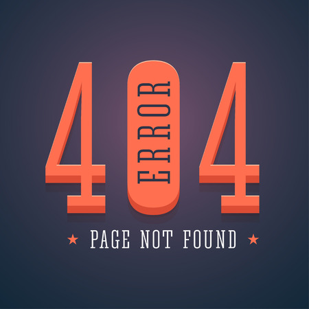 not found: 404 error page for website. Page not found illustration in flat style. illustration.