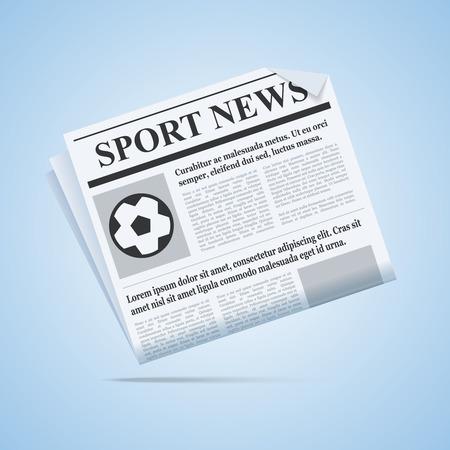 tabloid: Sport News Newspaper. Illustration