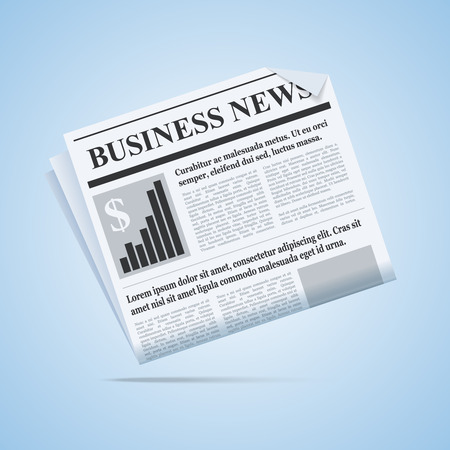 business news: Business news newspaper illustration. Scalable vector newspaper icon for your web or print project. Illustration