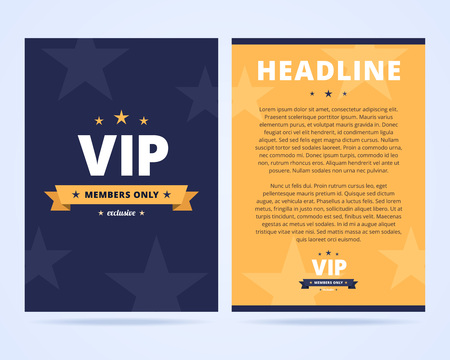 vip club flyer layout two sided flyer template with vip label