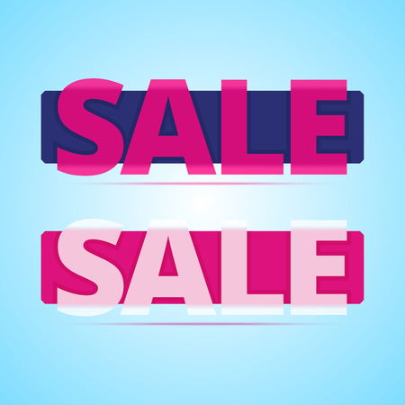 sale sticker: Sale banners with transparency plastic effect. Vector illustration in flat style.