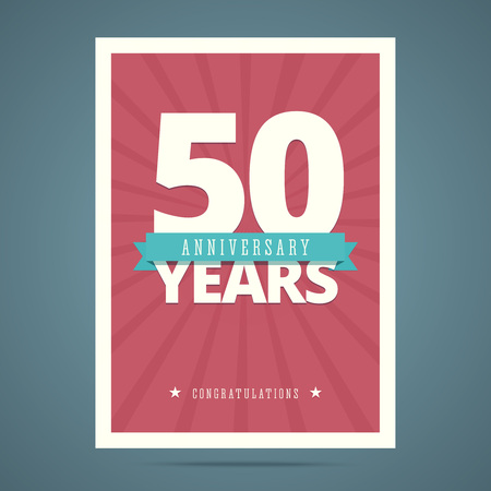 anniversary card: 50 year anniversary card, poster template.