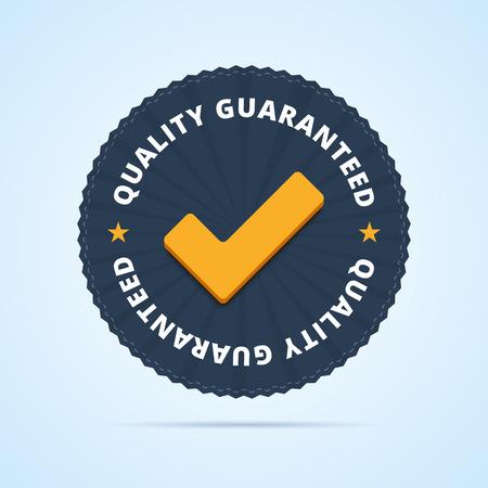 tested: Quality guaranteed - tested badge Illustration