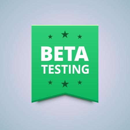 tester: Beta testing badge Illustration