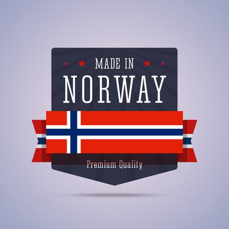 norway flag: Made in Norway badge