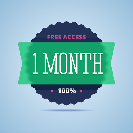 month: 1 month free access badge