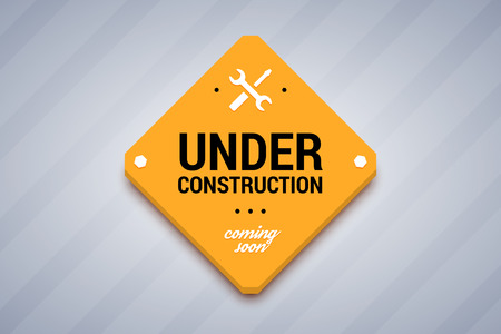 recondition: Under construction sign. Vector illustration for website.