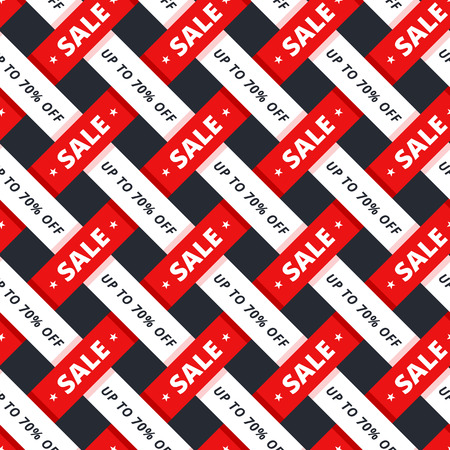 Special offer seamless pattern. Texture for sale promotion up to 70 percents off for shop and special sale campaign. For print gift box or pack paper or banner background.