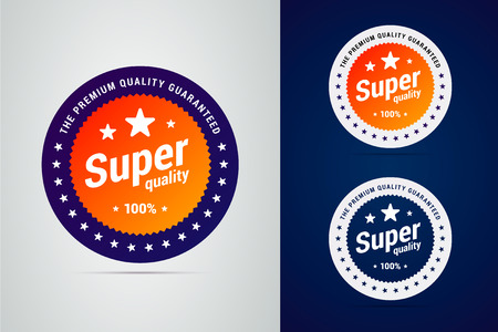 Super quality badge with stars. The premium quality guaranteed.