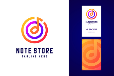 Vector logo in modern gradient style for music festivals, dj and 向量圖像