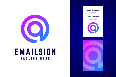 Email sign logo and business card template. Stok Fotoğraf