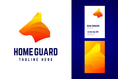 Home guard logo and business card template. 版權商用圖片