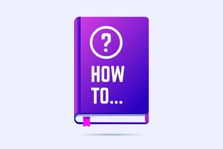 How to book with question sign. Vector illustration for user guide, manuals or help. 向量圖像