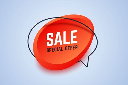 Sale special offer banner. Geometric shapes in 3d style. Vector illustration for shop promotions, offers or sales. 向量圖像