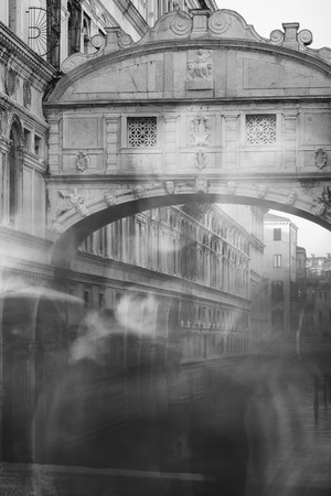exposicion: Puente de los Suspiros Exposición larga Foto de archivo