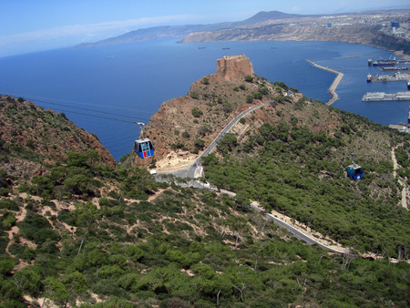allow: the cableway is connecting the bottom of oran to murjajo mountain to allow  algerian people to meet their families and visit saint sidi abdelkader or just sightseeing .