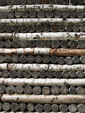 l petrol: Pila de le�a de abedul