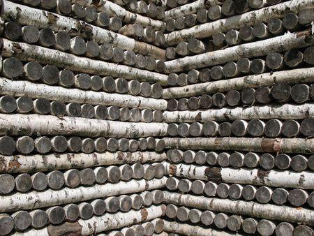 l petrol: Stack of birch firewood