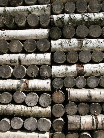 l petrol: Stack of birch firewood