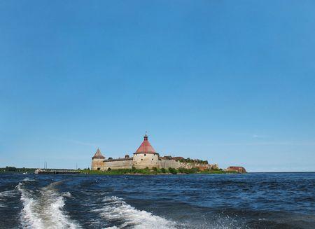 Schlisselburg fortress near Saint-Petersburg, Russia photo