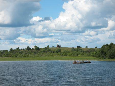 onega: Kizhi  Island. Kizhi Museum of wooden architecture. Lake Onega