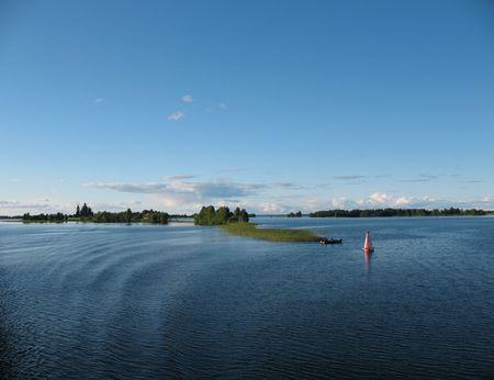 onega: Kizhi  Island. Lake Onega.