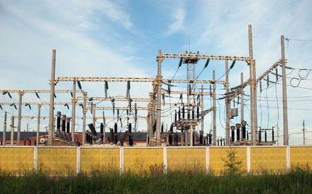 High-voltage electricity substation Stock Photo - 5653822