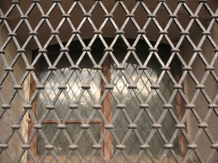 striping: Detail of window grills Stock Photo