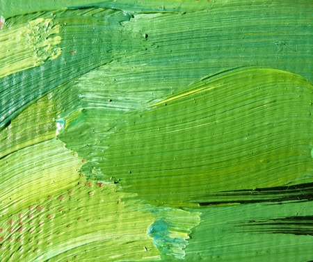 A fragment of the canvas with oil paints. Background. Macro