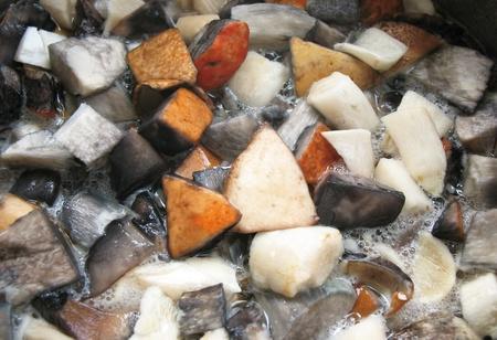сooking: �ooking mushrooms Stock Photo