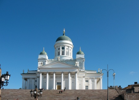 engel: Cathedral on Senate Square in Helsinki Editorial