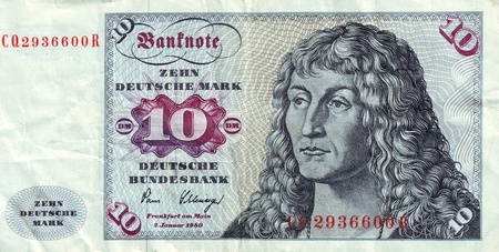 durer: Banknotes in 10 DM 1963  with a portrait of a young man based on the eponymous painting by Durer