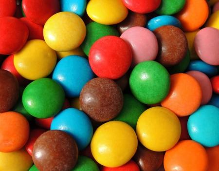sameness: Multi-colored candy Stock Photo