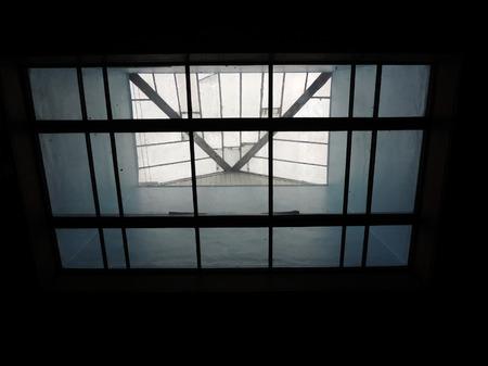 skylights: Skylights over the glass ceiling