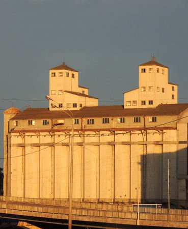 constructivism: Elevator Stock Company Petersburg warehouses Editorial