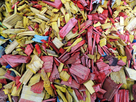 fraction: Decorative mulch of wood chips