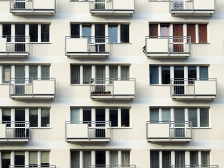 residential: Fragment of residential block of flats with balconies