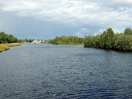 White Sea-Baltic Canal, Gateway number three. Povenets, Karelia
