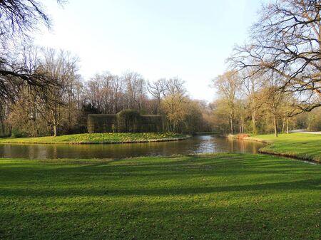 Sunny day in spring park