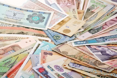 rupee: International Finance: currencies from around the world Stock Photo