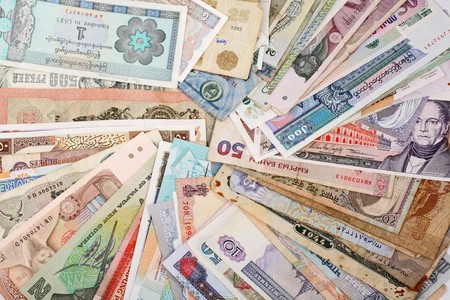 global currencies: International Finance: currencies from around the world Stock Photo