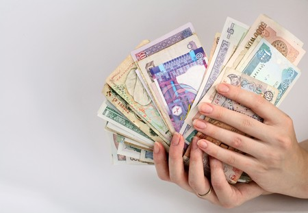 foreign currency: International Finance: currencies from around the world Stock Photo