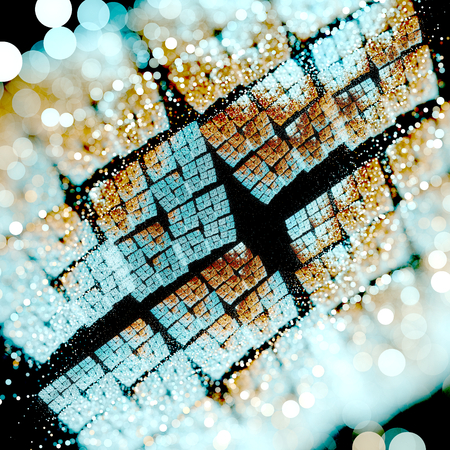 heptagon: Abstract fractal background Stock Photo