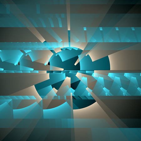 turquiose: Mechanical abstract. Fractal background Stock Photo