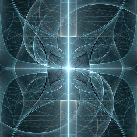 ray of light: Abstract fractal geometric background