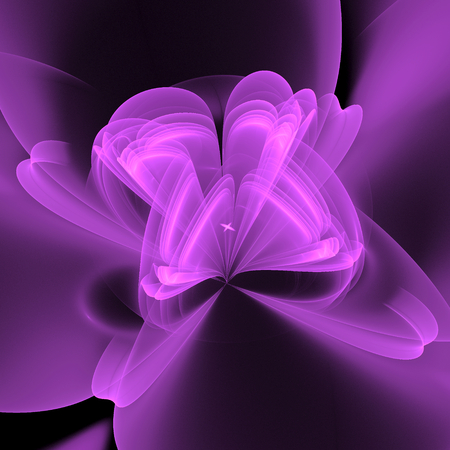 ray of light: Abstract fractal flower background Stock Photo