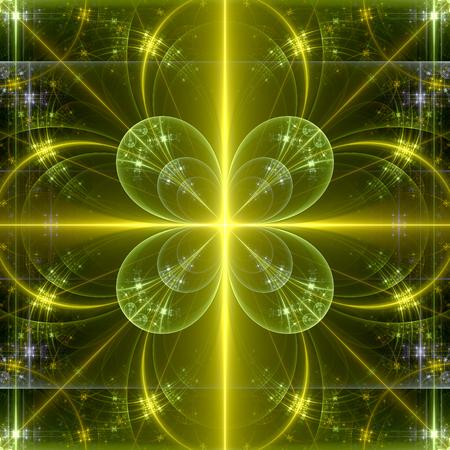 Abstract fractal cloverleaf background