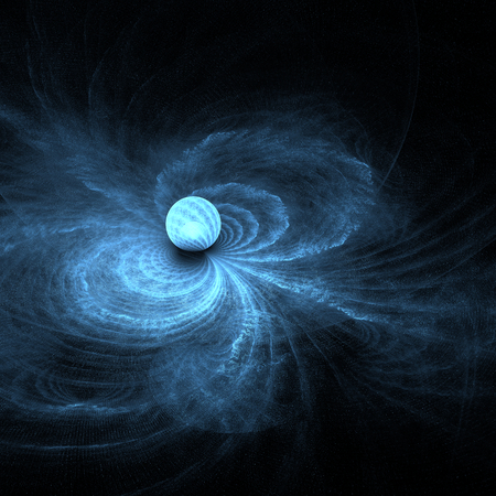 Abstract fractal gravitational ball background