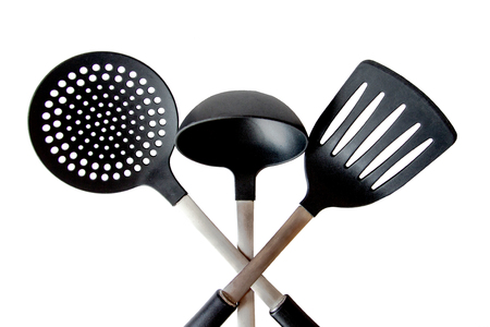 Kitchen tool of the three items, a ladle, etc.